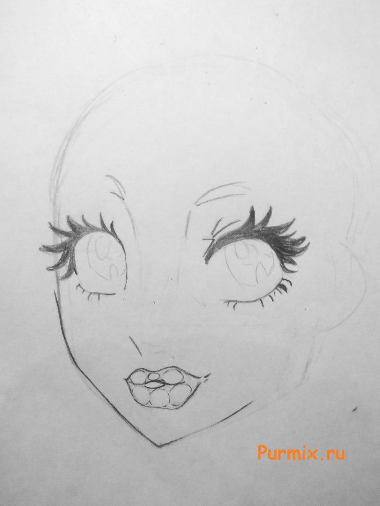 Рисуем лицо Лагуны Блю - шаг 3