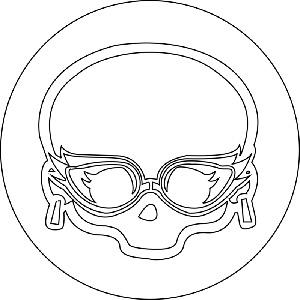 значок Гулии Йелпс из Монстр Хай простым карандашом