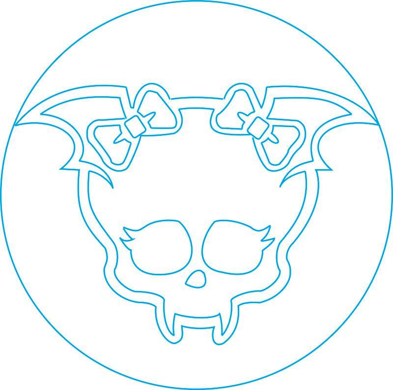 Рисуем знак Дракулауры из Монстр Хай