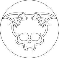 Фото знак Дракулауры из Монстр Хай карандашом