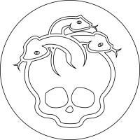 знак Дьюса Горгона простым карандашом на бумаге