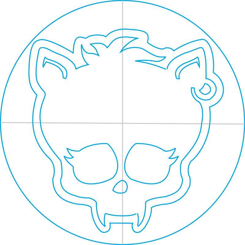 Рисуем знак Клодина Вульфа из Монстр Хай - шаг 11
