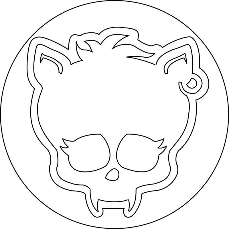 Рисуем знак Клодина Вульфа из Монстр Хай - шаг 12