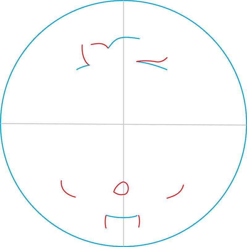Рисуем знак Клодина Вульфа из Монстр Хай - шаг 3