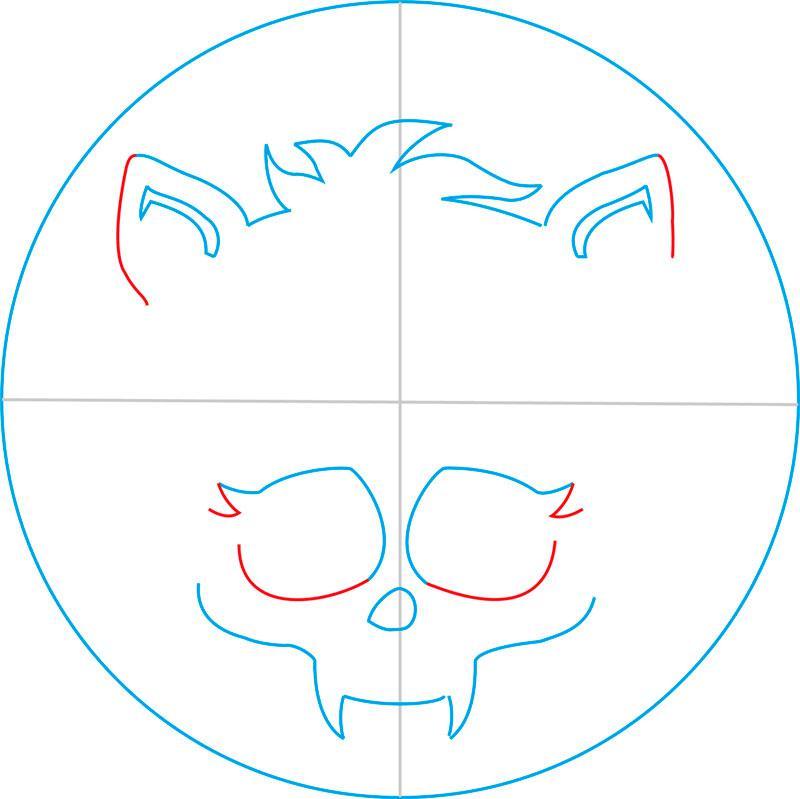 Рисуем знак Клодина Вульфа из Монстр Хай - шаг 6