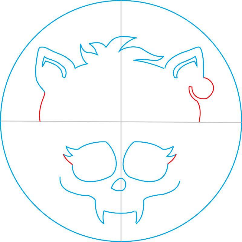 Рисуем знак Клодина Вульфа из Монстр Хай - шаг 7