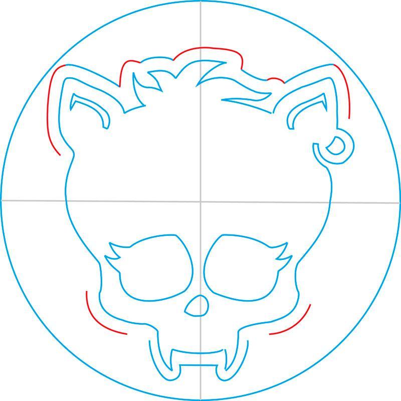 Рисуем знак Клодина Вульфа из Монстр Хай - шаг 9