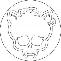 Как нарисовать знак Клодина Вульфа из Монстр Хай