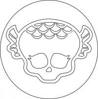 знак Лагуны Блю из Монстр Хай карандашом