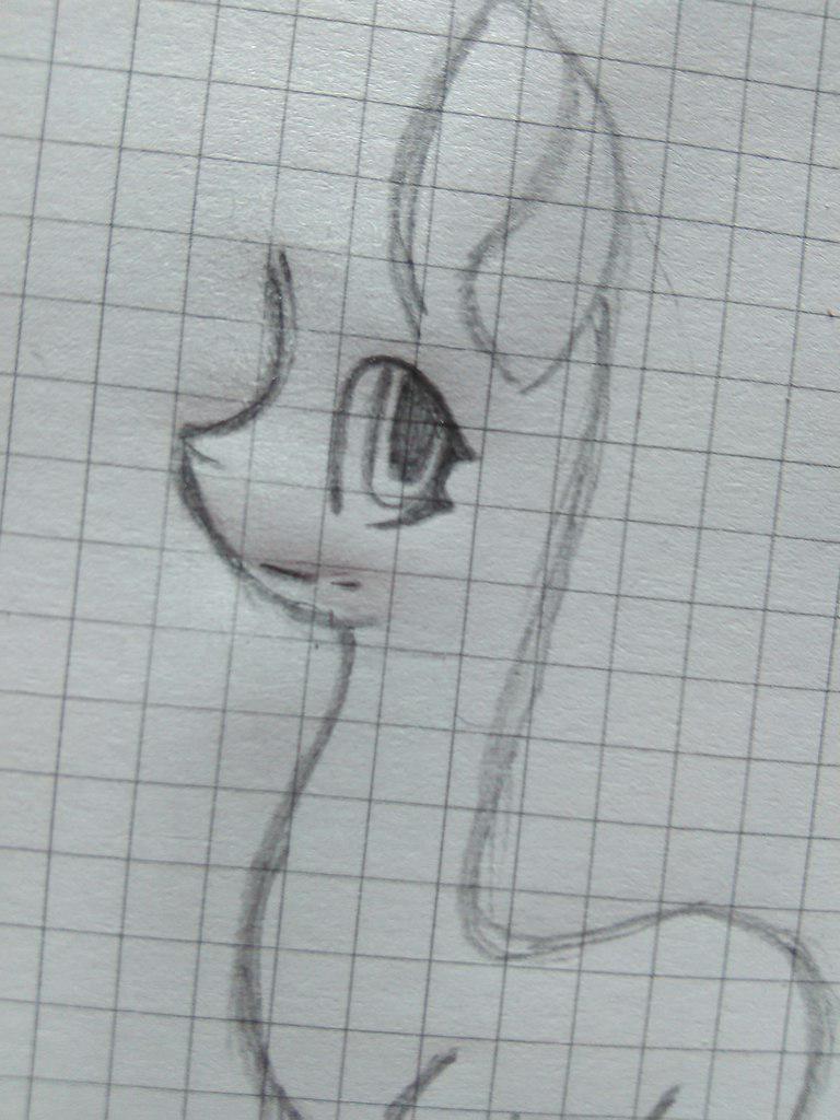 Рисуем пони Флаттершай с длинной косой - шаг 3
