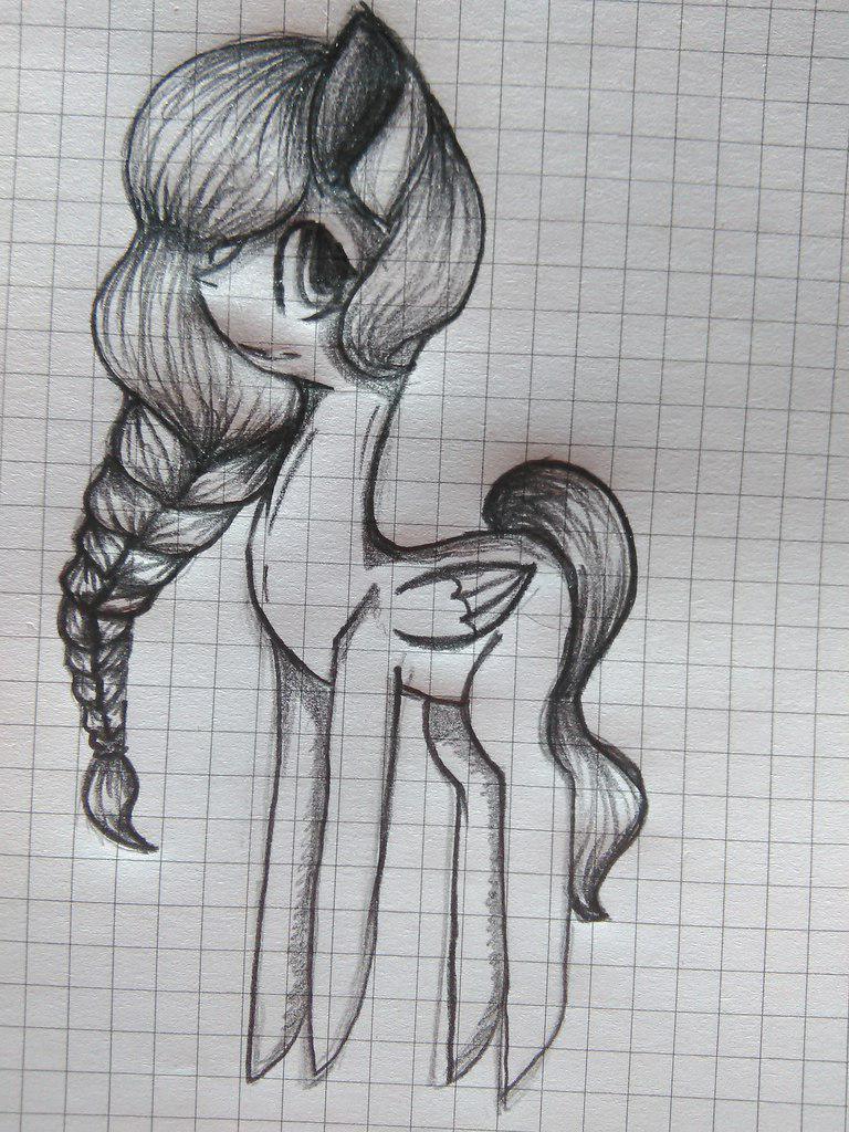 Рисуем пони Флаттершай с длинной косой - шаг 5