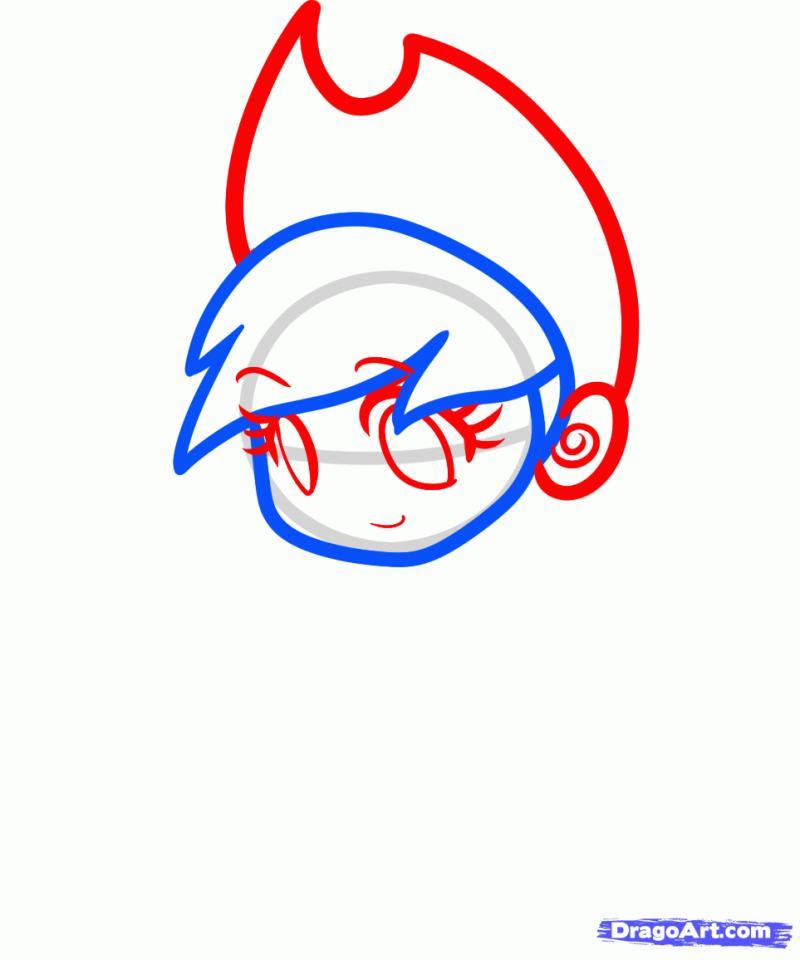 Рисуем человека Applejack