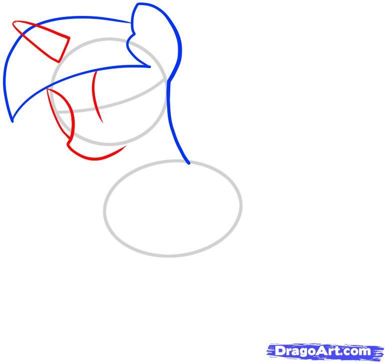 Рисуем единорога Сумеречная Искорка - шаг 3