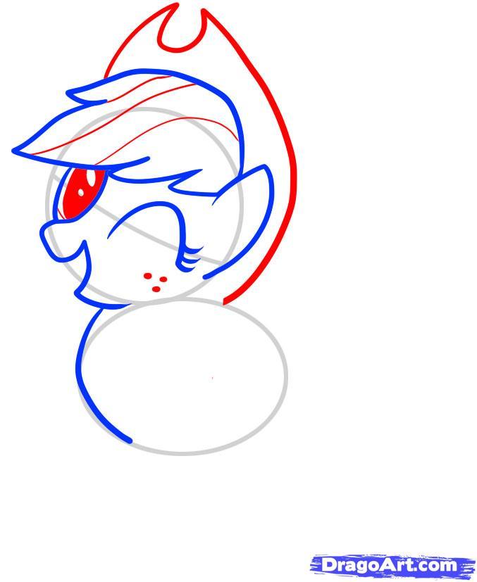 Рисуем пони Эпплджек из Дружба - это чудо - фото 4
