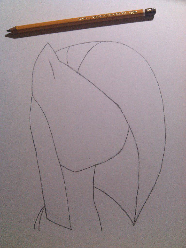 Рисуем грустную Пинкамину Диану Пай - шаг 2