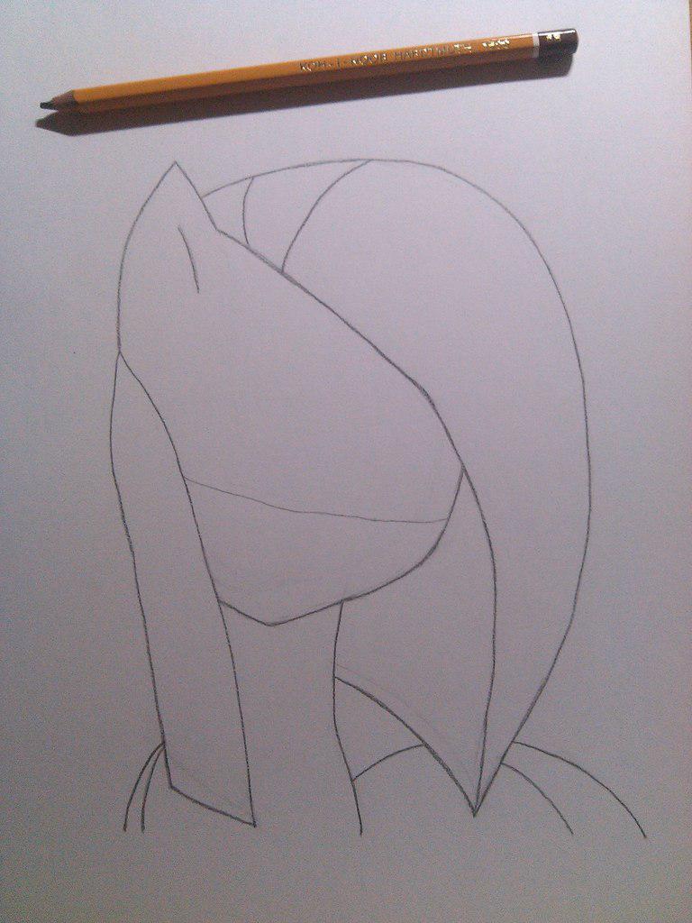 Рисуем грустную Пинкамину Диану Пай - шаг 3