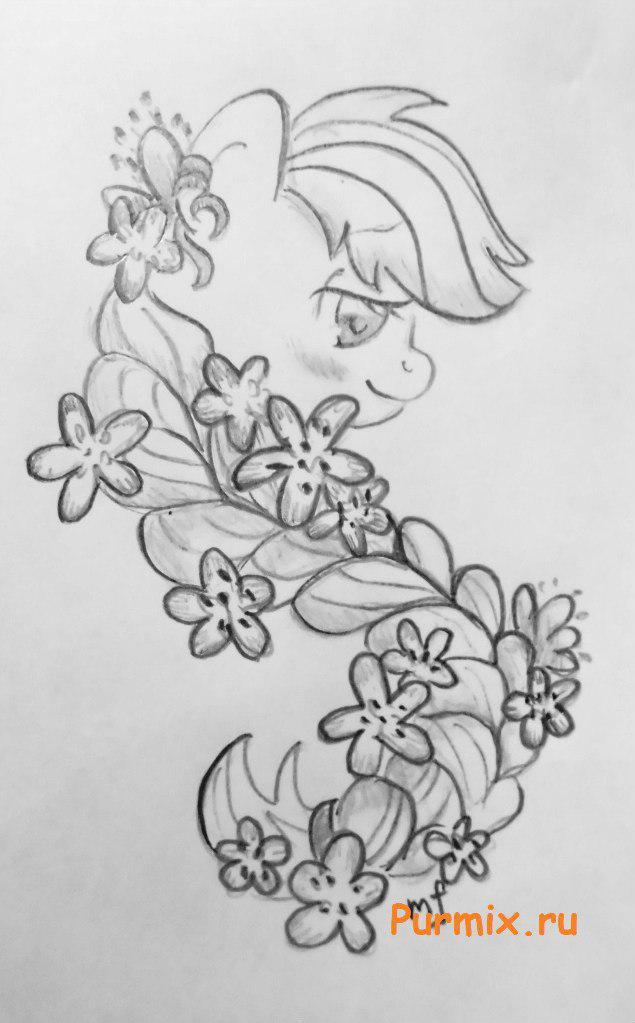 Рисуем пони Эпплджек из Дружба - это чудо - фото 5