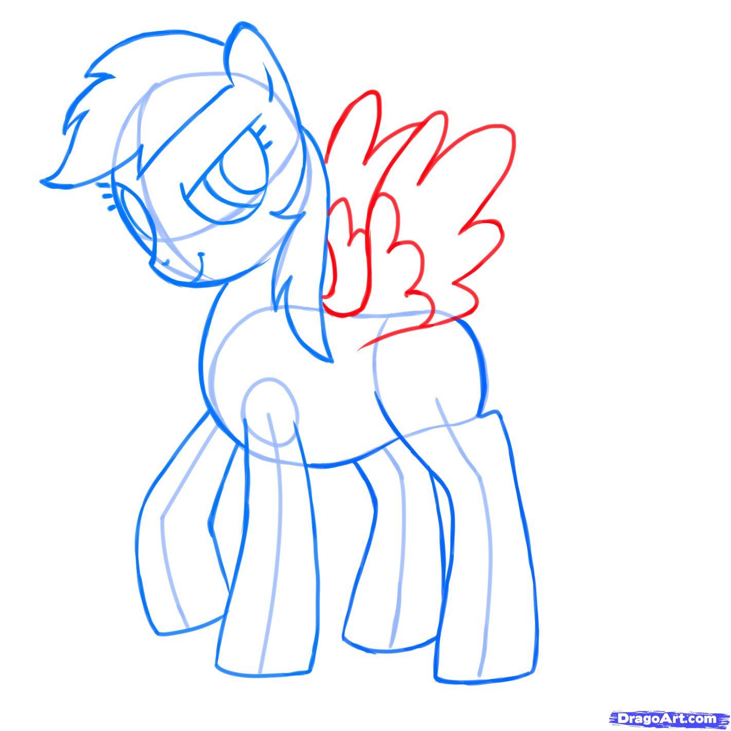 Рисуем пони Радуга Дэш из Дружба – это чудо - фото 7