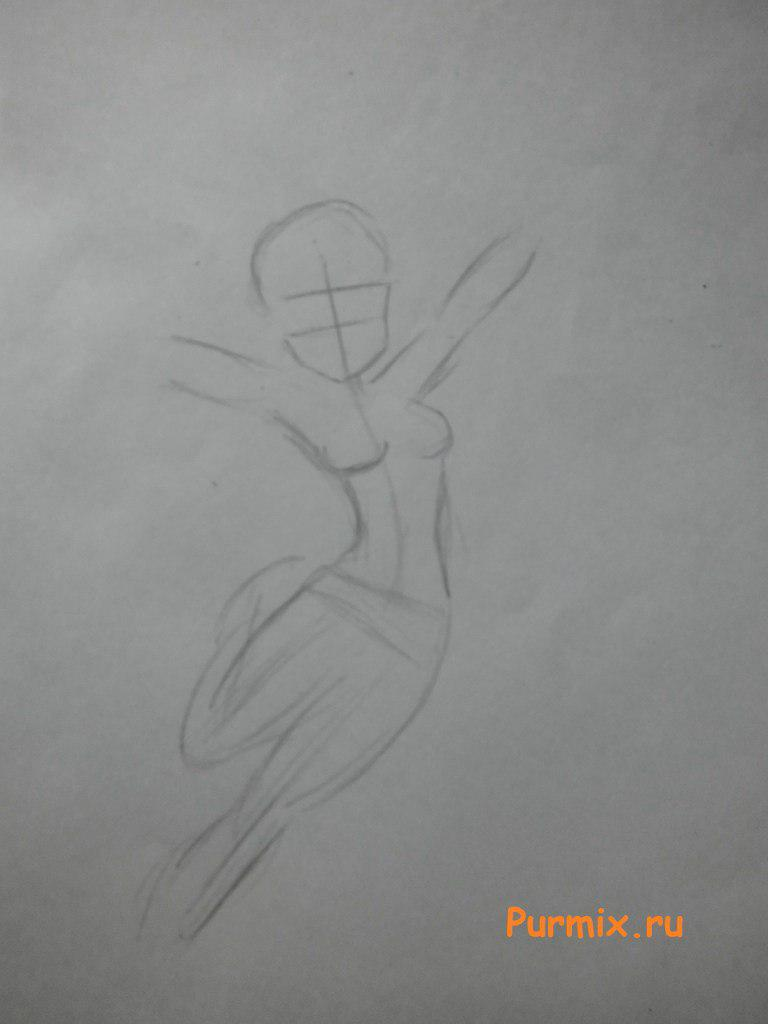 Рисуем девочку Пинки пай в аниме стиле - шаг 1