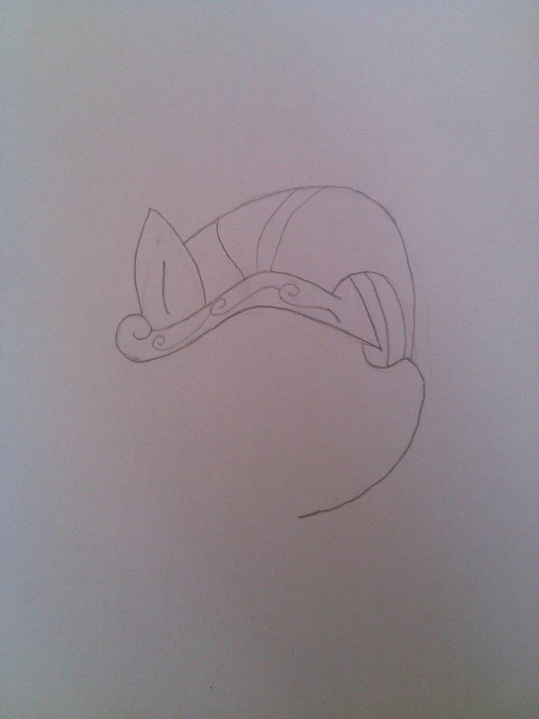 Рисуем Пинки Пай в доспехах простым - шаг 1