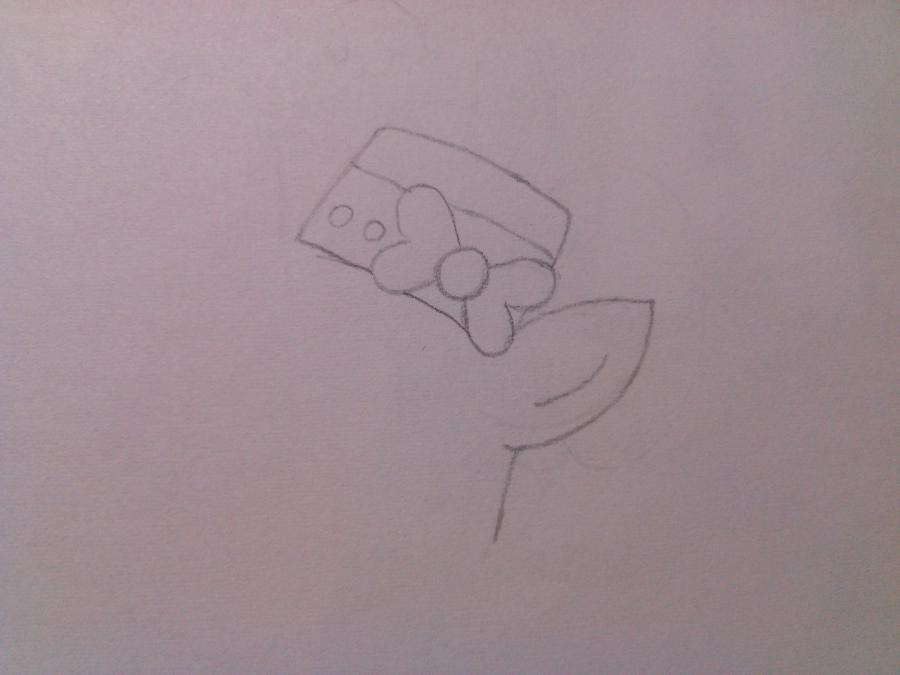 Рисуем пони Пинки Пай в праздничном платье - шаг 1