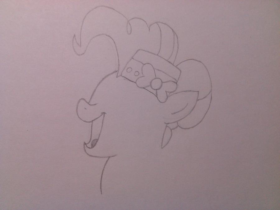 Рисуем пони Пинки Пай в праздничном платье - шаг 2