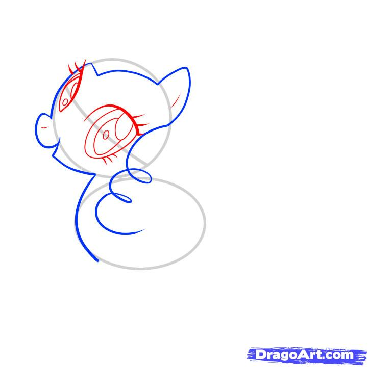 Рисуем пони Пинки Пай из Дружба это чудо карандашами - шаг 3