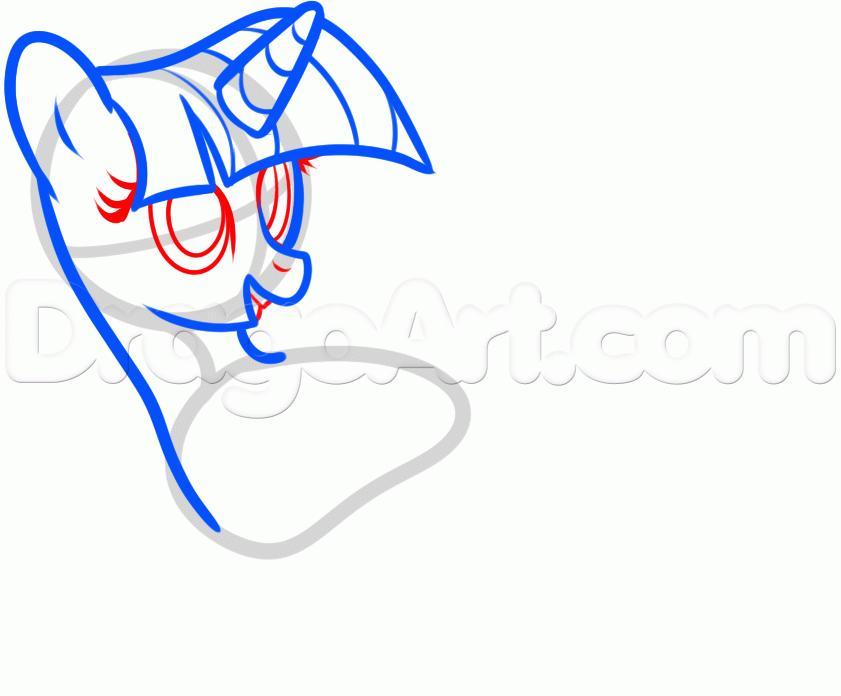 Рисуем пони Твайлайт Спаркл из Дружба — это чудо - фото 4
