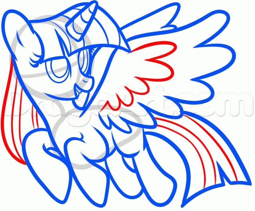 Рисуем пони Твайлайт Спаркл из Дружба — это чудо - фото 8