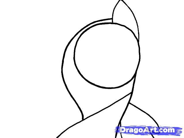 Рисуем портрет пони Флаттершай - шаг 2