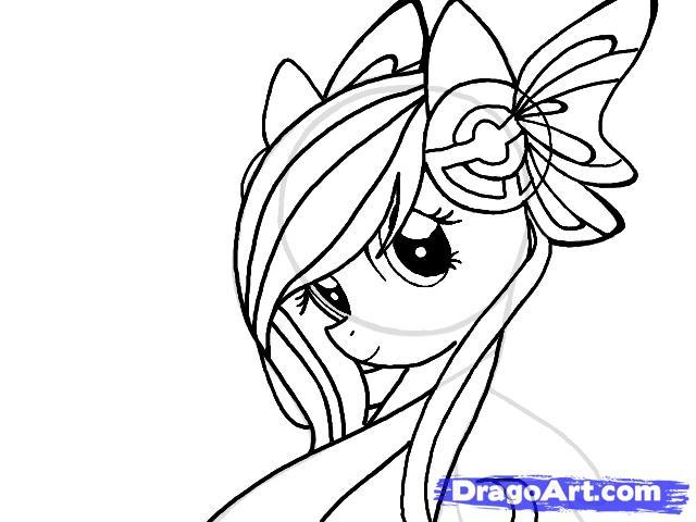 Рисуем портрет пони Флаттершай - шаг 8