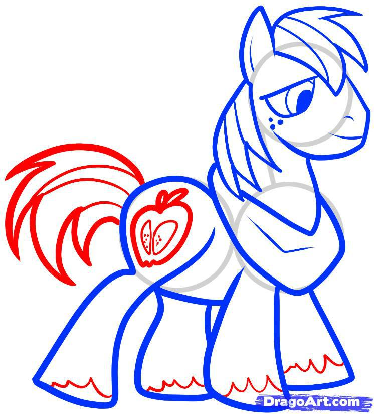 Рисуем пони по имени Большой Маки