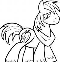 Фото пони по имени Большой Маки карандашом