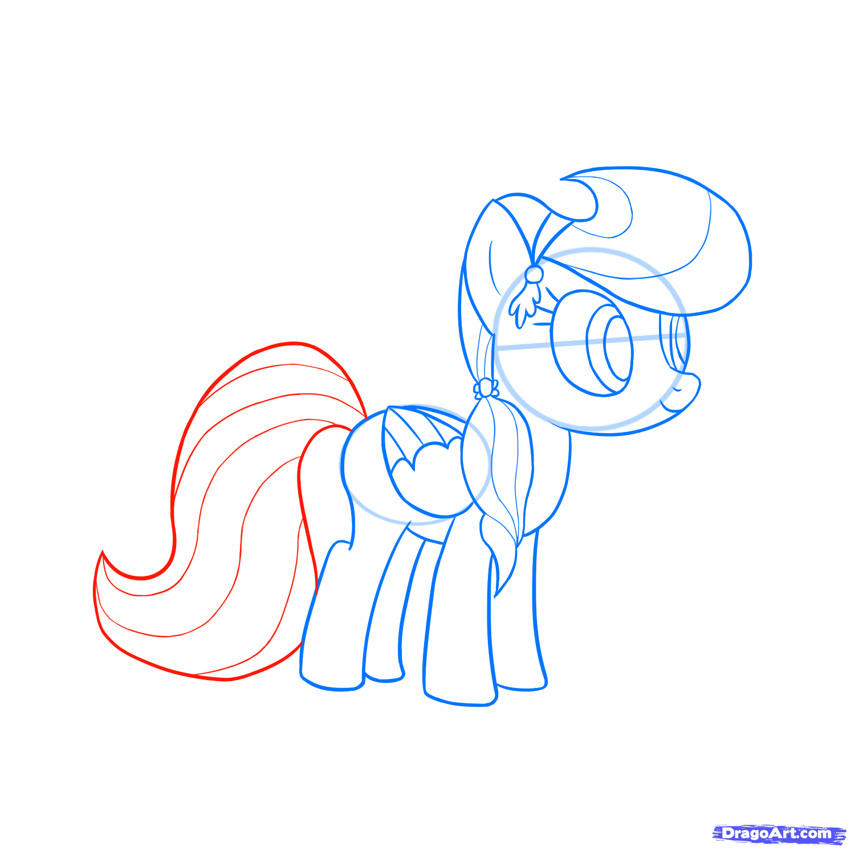 Рисуем пони Радуга Дэш из Дружба – это чудо - фото 4