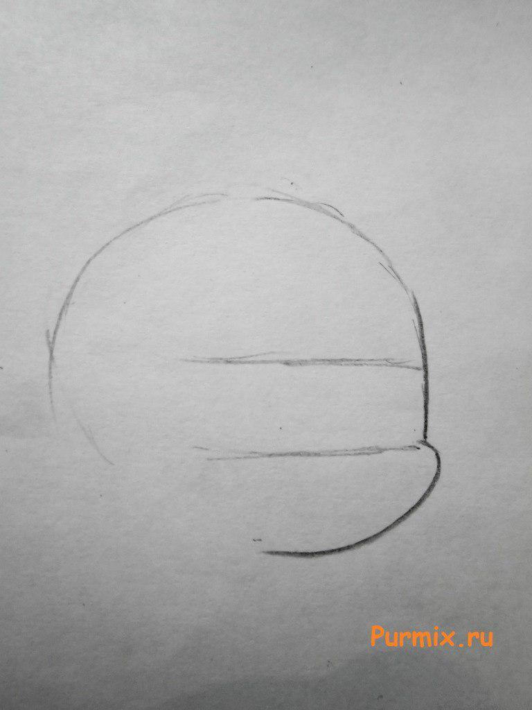 Рисуем пони Эпплджек из Дружба - это чудо - шаг 1