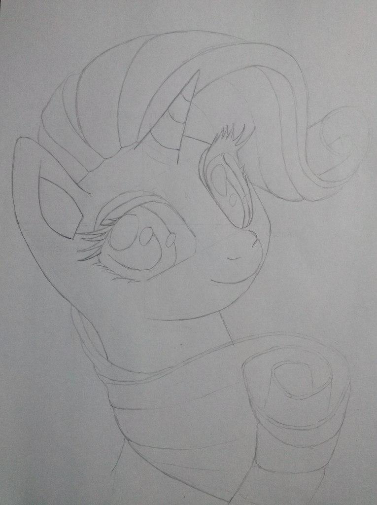 Как нарисовать пони Рарити карандашом поэтапно Как Нарисовать Пони Дружба это Чудо Поэтапно