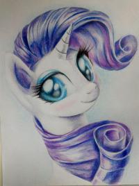 Фото портрет Рарити из My Little Pony
