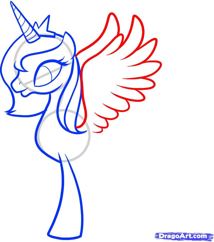 Рисуем Принцессу Луны (Princess Luna) - шаг 6