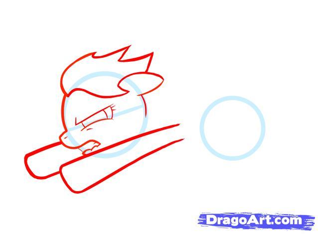 Рисуем пони Радуга Дэш из Дружба – это чудо - фото 2