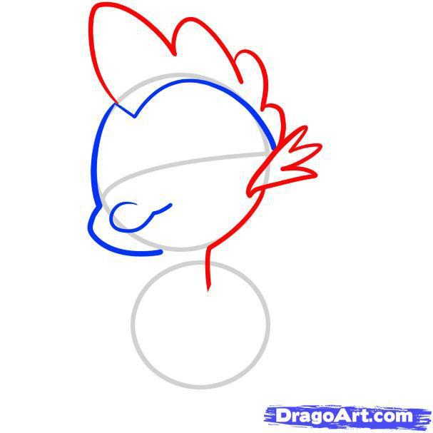 Рисуем Спайка из Дружба - это чудо
