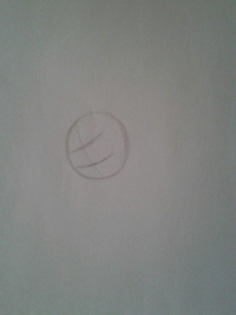 Рисуем Флаттершай из мультика Мой маленький пони - шаг 1