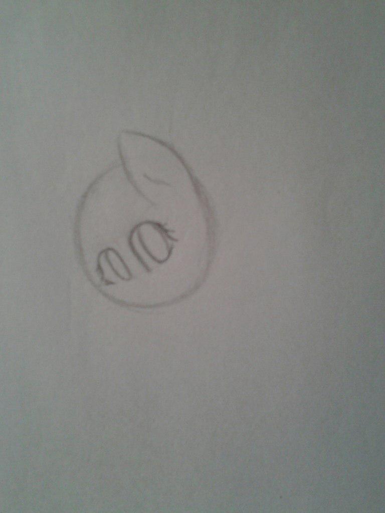 Рисуем Флаттершай из мультика Мой маленький пони - шаг 2