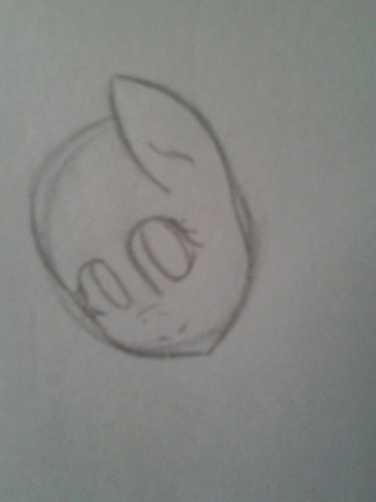Рисуем Флаттершай из мультика Мой маленький пони - шаг 3
