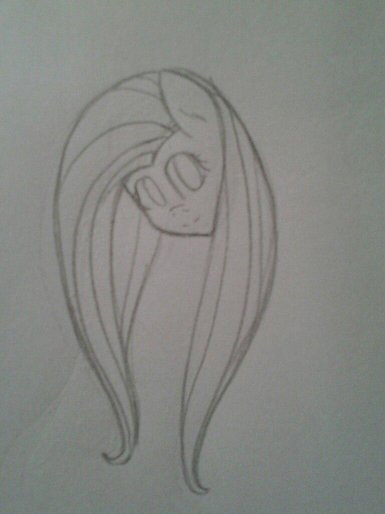 Рисуем Флаттершай из мультика Мой маленький пони - шаг 4