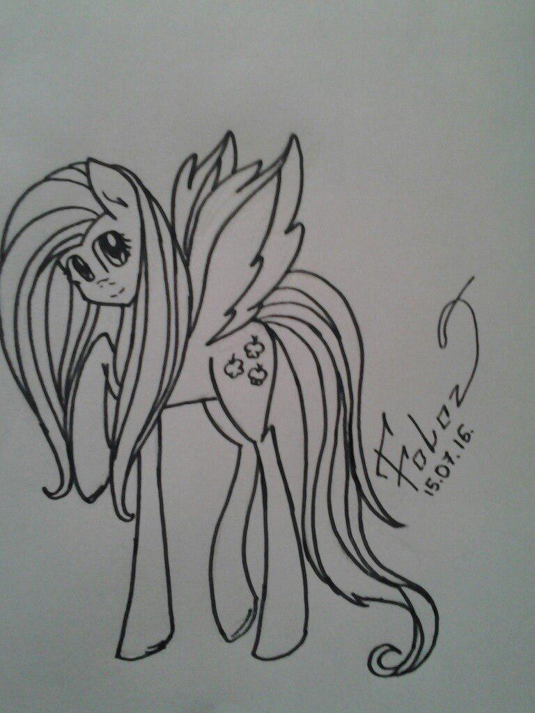 Рисуем Флаттершай из мультика Мой маленький пони - шаг 8