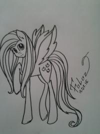 Рисуем Флаттершай из мультика Мой маленький пони