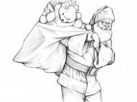 деда мороза с мешком подарков