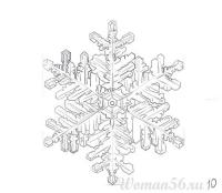 Фото красивую снежинку карандашом