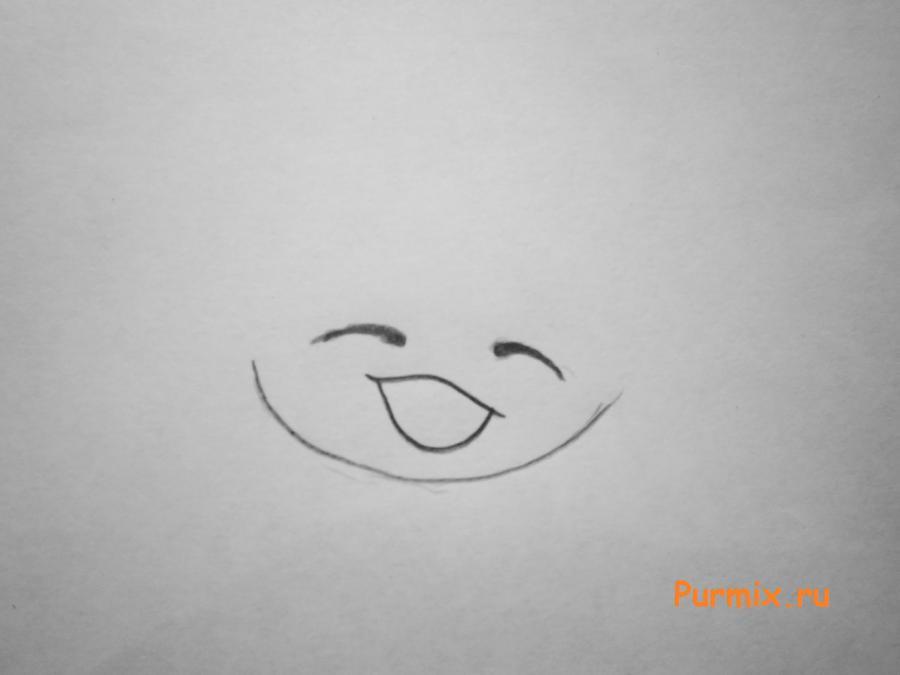 Рисуем маленького чиби деда мороза простым - шаг 1