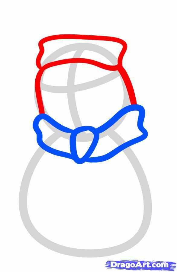 Рисуем новогоднего пингвина - шаг 3